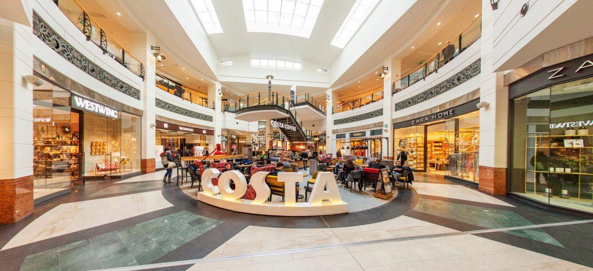 Panorama sferyczna w Costa Coffee w Warszawie