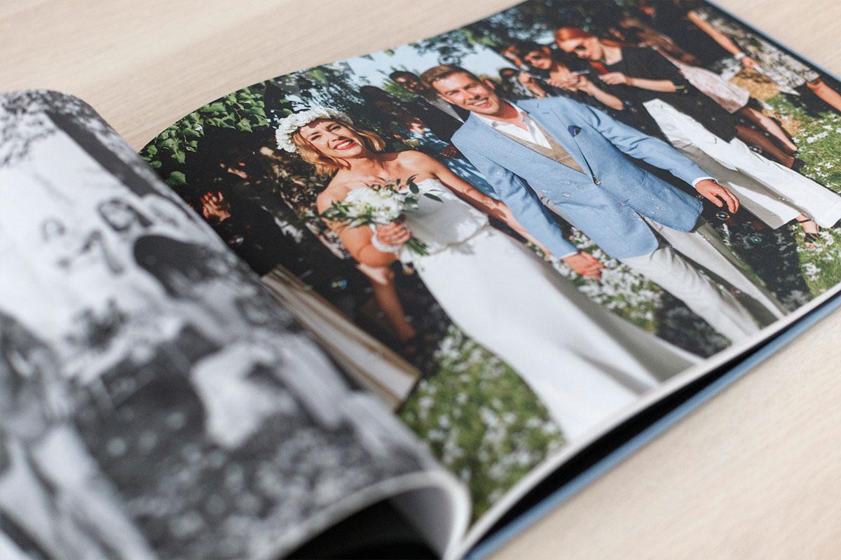 Fotoksiążka ślubna z matowymi kartami